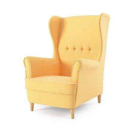 FOTEL USZAK SKANDYNAWSKI, kolor jasny żółty