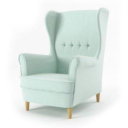 Fotel uszak Milo, styl skandynawski, kolor jasny zielony