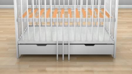 ŁÓŻECZKO NIEMOWLĘCE AL z szufladą 120 x 60 kolor biały