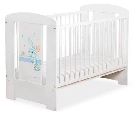 Łóżeczko 120x60cm Białe Dreamy bunny 5019-07-676