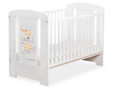 Łóżeczko 120x60cm Białe Sweet bears 5019-07-669