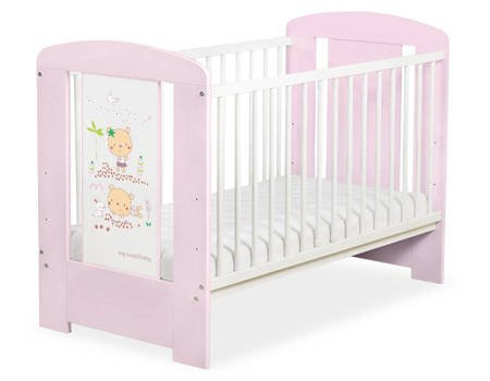 Łóżeczko 120x60cm Różowo-białe Sweet bears 5019-08-668