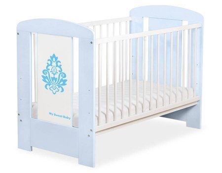 Łóżeczko Glamour 120x60cm Niebieskie 5015-03-3