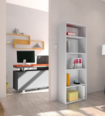 Regał biurowy, szerokość 60cm kolor biały