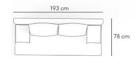 Sofa Sony 1 rozkładana sofa z funkcją spania kolor czarno-czerwony, 3 osobowa
