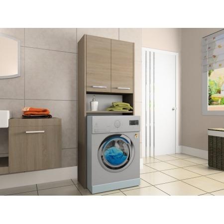 Szafka łazienkowa, wnękowa nad pralkę, kolor sonoma, Luna 64 cm