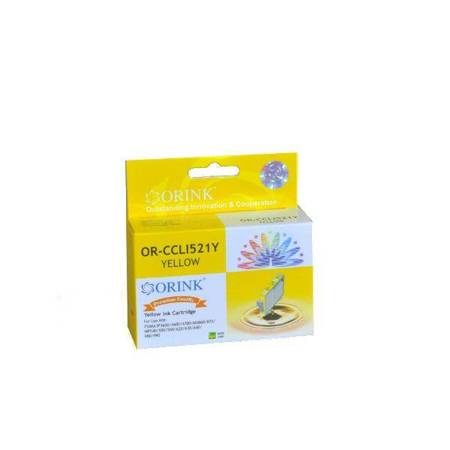Tusz CLI521Y do drukarek Canon Pixma MP540 /  MP620 / MX870 / IP3600, Żółty, 10,5 ml