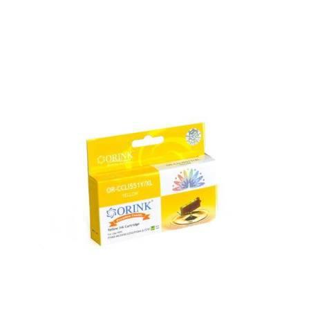 Tusz CLI551XLY do drukarek Canon Pixma MG5450 / 6350 / Pixma iP7250, Żółty, 12 ml