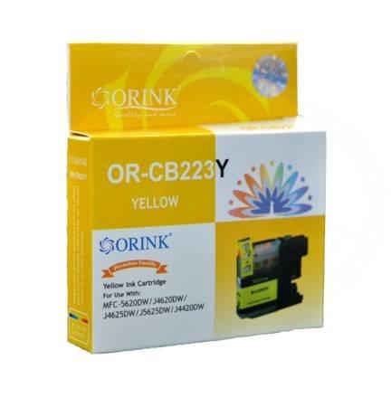 Tusz LC223Y do drukarek Brother MFC J5620DW / J4620DW / J4625DW / J5625DW / J4420DW, Żółty, 10 ml