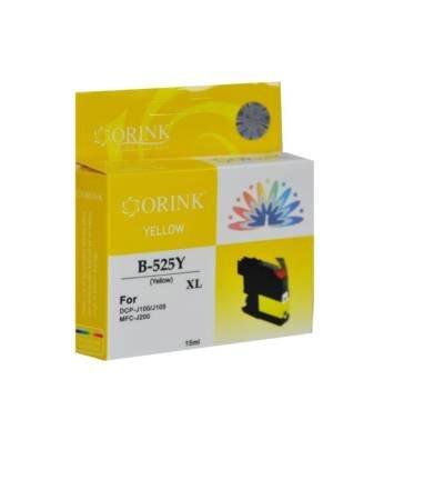 Tusz LC525XLY do drukarek Brother DCP J100 / DCP J105 / MFC J200, Żółty, 15 ml